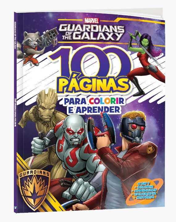 100 Paginas P Colorir Marvel Guardioes da Galaxia thumbnail