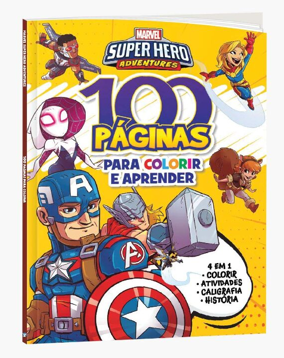 100 Paginas P Colorir Marvel Super Heros Adventure thumbnail